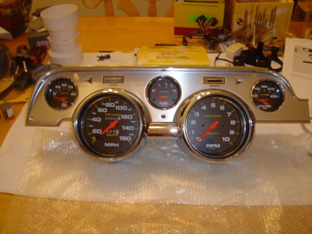1968 Mustang Instrument Cluster - Pretty Happy With The Turn Out - 1968 Mustang Instrument Cluster